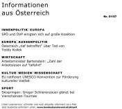 Informationen aus Österreich